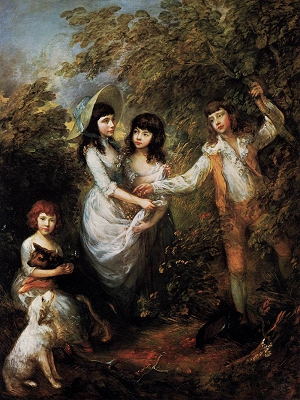 Les enfants Marsham, Thomas Gainsborough, Gemäldegalerie Berlin, englische Malerei